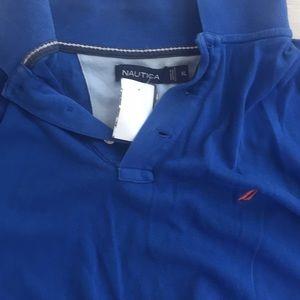 Nautica polo XL blue with orange simbol